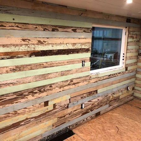 Louisiana Tiny Home Build:  Interior Wall Progress