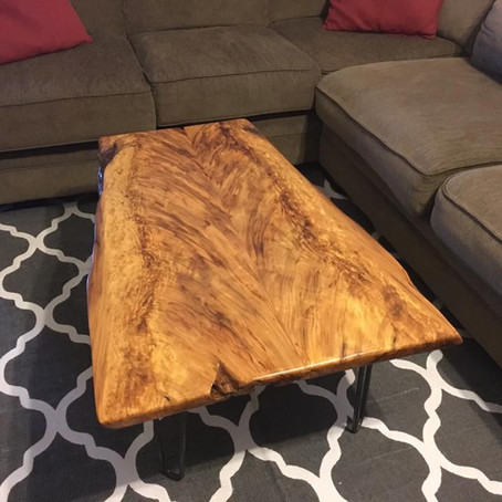 Book Matched Sinker Cypress Table:  Angel Wings