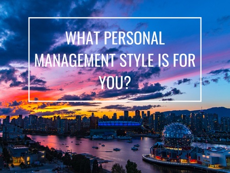 What Personal Management Style is right for you?