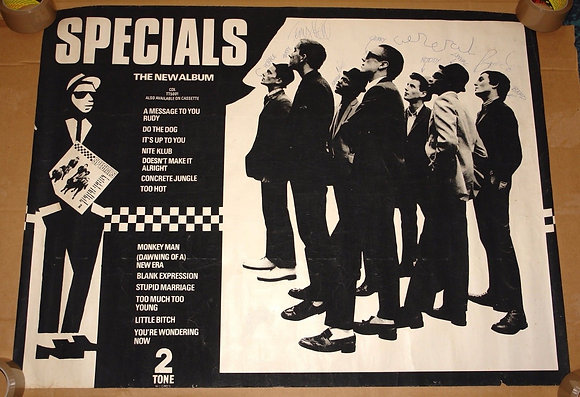 THE SPECIALS HAND SIGNED ORIGINAL TWO 2 TONE POSTER