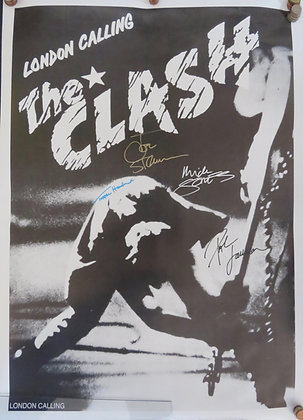 The Clash 'London Calling' signed poster
