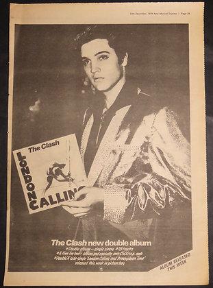 Elvis holding The Clash 'London Calling' album