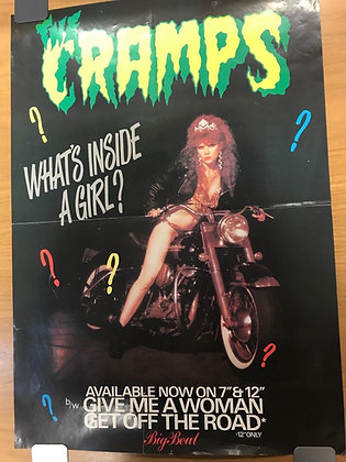 The Cramps Original 'Whats Inside A Girl' Poster
