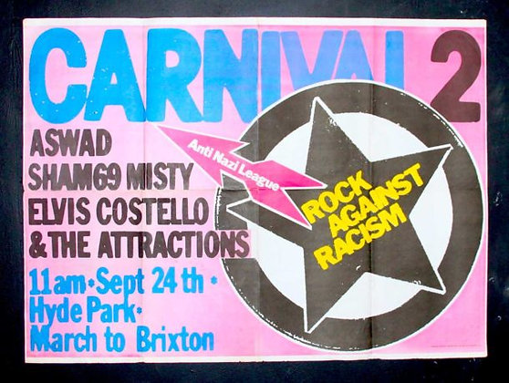 Rock Against Racism ...Original Concert Poster.