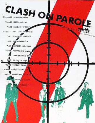 The Clash...Original Clash On Patrol 1978 Tour poster.
