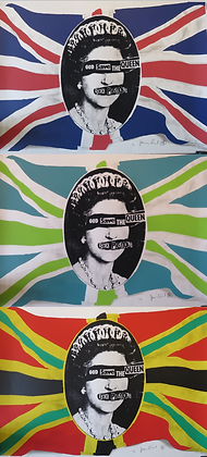 God Save the Queen Triptic