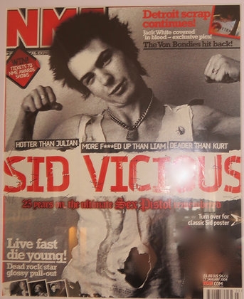 NME Sid Vicious 'Live Fast Die Young'