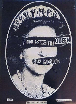 Sex Pistols 'God Save the Queen' Navy Blue
