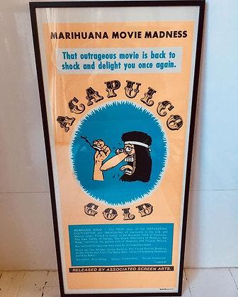 Acapulco Gold...Original 1973 Aussie Daybill Film poster.