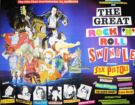 Sex Pistols...The Great Rock & Roll Swindle original film poster.