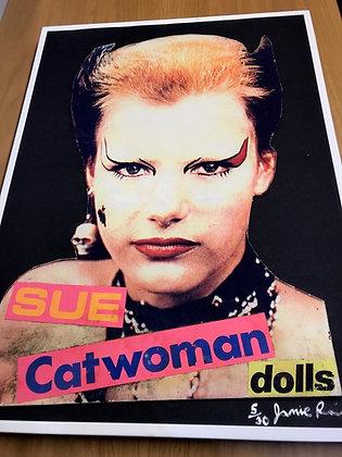 Sex Pistols..Sue Catwoman Ltd.Ed print signed by Jamie Reid.