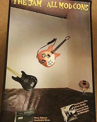 The Jam...Ultra rare Original 1978 All Mod Cons promo poster.