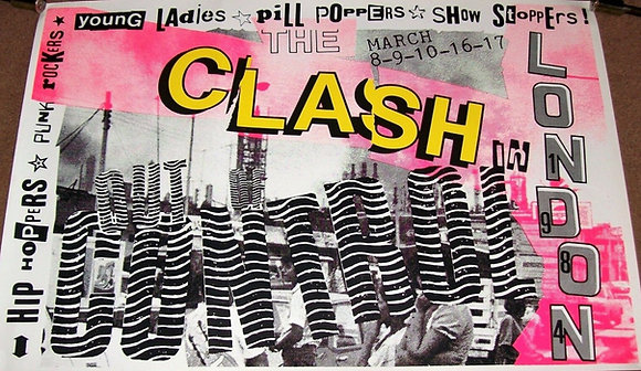 The Clash..Original 1984 Out Of Control concert poster.