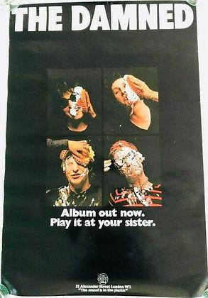 The Damned...Rare 1977 original Stiff Records Promo Poster.