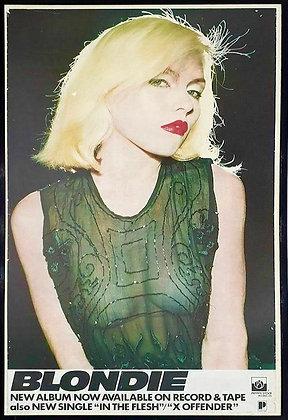 Blondie..Original 1976 promo poster.