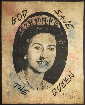 Jamie Reid 'God Save the Queen' Swastika Eyes