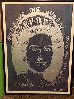 Sex Pistols..God Save The Queen..Jamie Reid Limited Ed.screenprint.