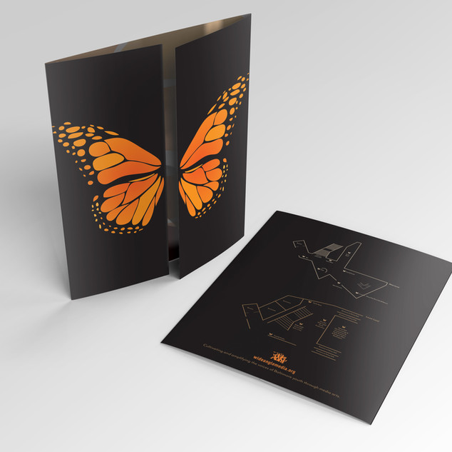 Black Butterfly Gate Fold Program Guide