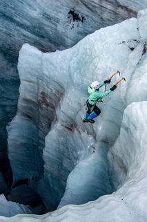 Ice Climbing Glaciers in Iceland