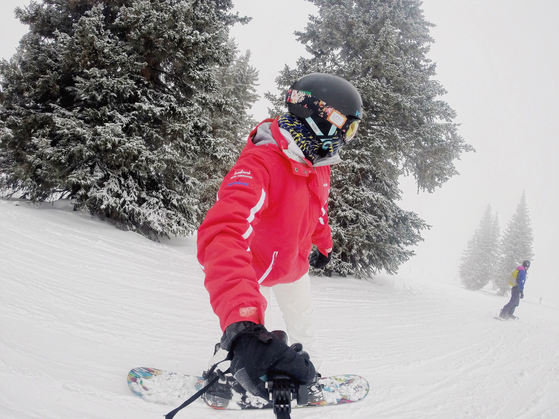 Snowboarding in Vail, Colorado