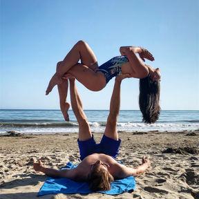 Acroyoga at Panther's Beach, California