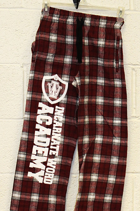 IWA 100% Cotton Maroon Plaid Pajama Pants