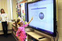 Student Using CleverTouch