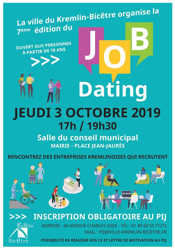 Job Dating le 03 octobre 2019 à 17 h en Mairie