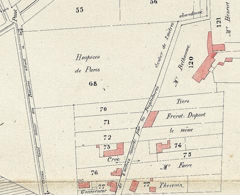 Plan du hameau du Kremlin (septembre 1826).