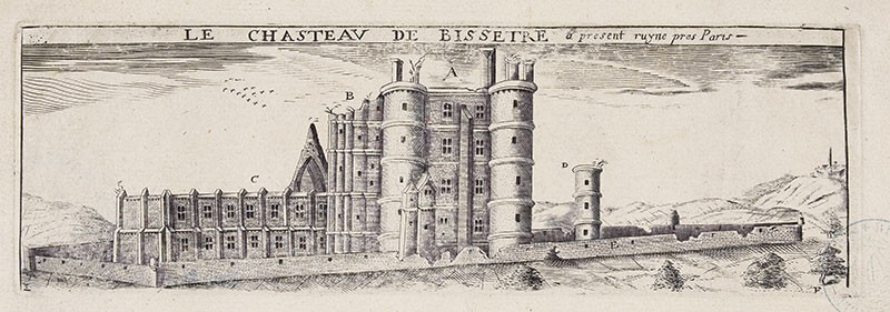 Le Château de Bicêtre à présent ruiné.