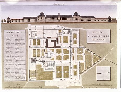 Plan de l'hospice de Bicêtre, 1813