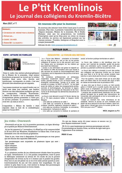 Le P'tit Kremlinois n°7 - mars 2017