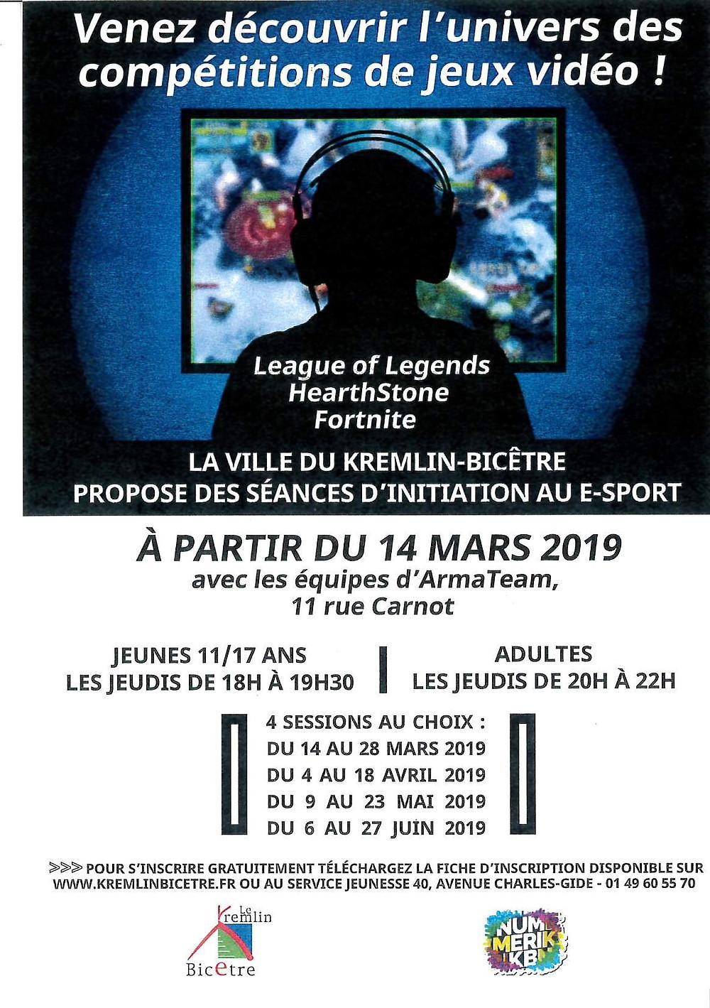 Initiation au E-Sport - 4 sessions gratuites