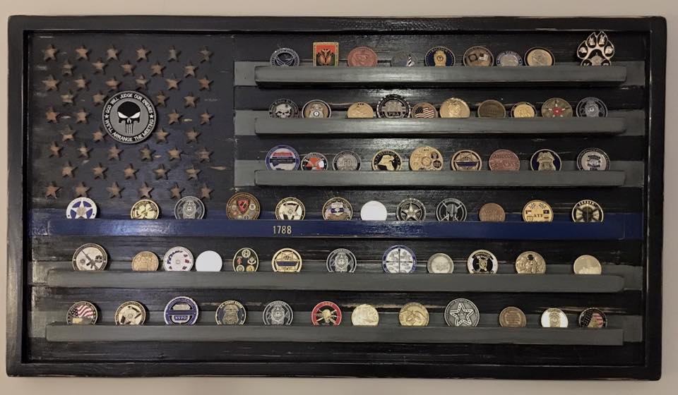 flag coin holder