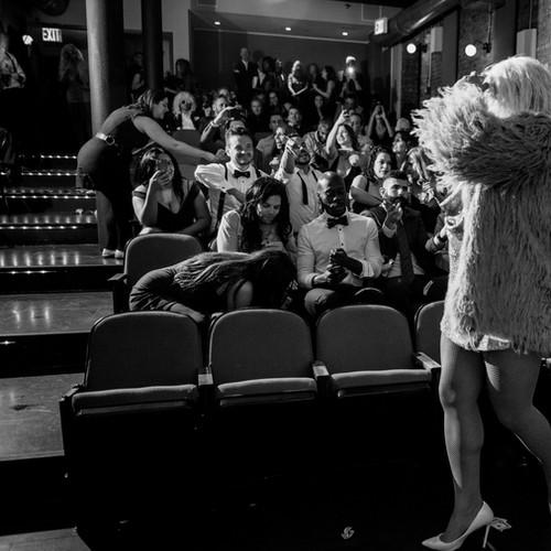 Drag show in screening room