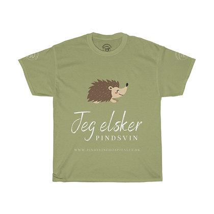 Bomulds T-shirt Unisex (Jeg elsker pindsvin)