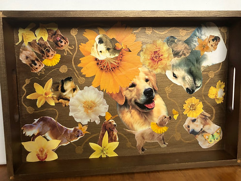 Wooden Goldens Tray