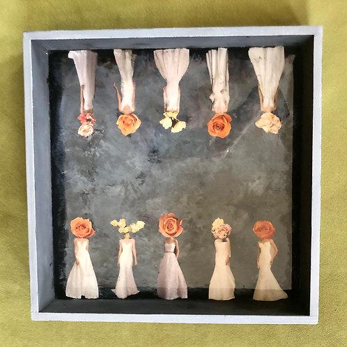 """Rose Bridesheads"" Tray"