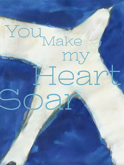 """you make my heart soar flying bird limited edition 5x7"""" print resealable sleeve"""