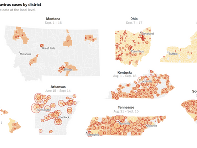 The New York Times brings The Covid Monitor to the forefront of data reporting for K-12 schools