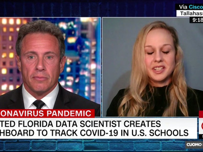 Co-founder Rebekah Jones speaks to CNN's Chris Cuomo about The Covid Monitor
