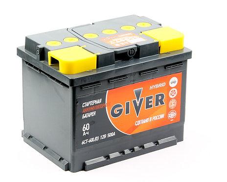 Аккумулятор GIVER HYBRID 6СТ-60.0