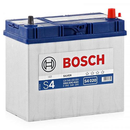 Аккумулятор BOSCH S4 45.0 (545 155 033) яп.ст/тонк.кл.