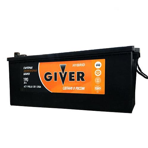 Аккумулятор GIVER HYBRID 6СТ - 190 рос.болт