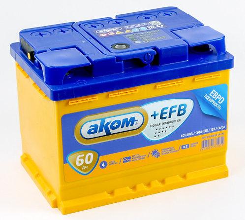 Аккумулятор АКОМ 6СТ-60.0 EFB