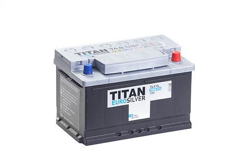 Аккумулятор TITAN EUROSILVER 6СТ-74.0 VL низкий