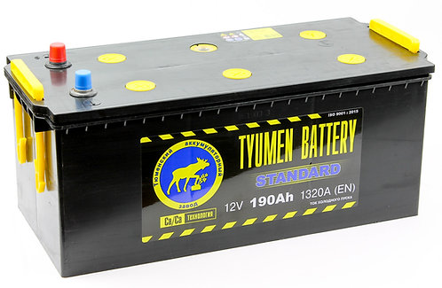 Аккумулятор Тюмень STANDARD 6СТ -190 L евро.конус