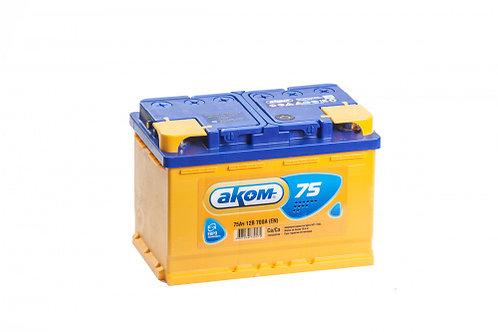 Аккумулятор АКОМ 6СТ-75.0