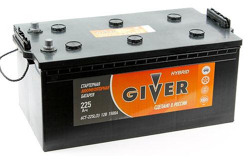 Аккумулятор GIVER HYBRID 6СТ - 225 евро.конус