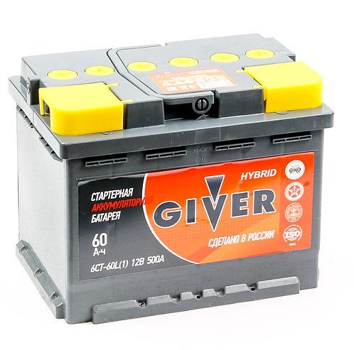 Аккумулятор GIVER HYBRID 6СТ-60.1